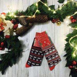 świąteczne męskie skarpety