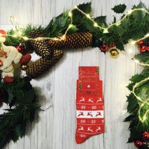 Świąteczne skarpetki męskie na prezent