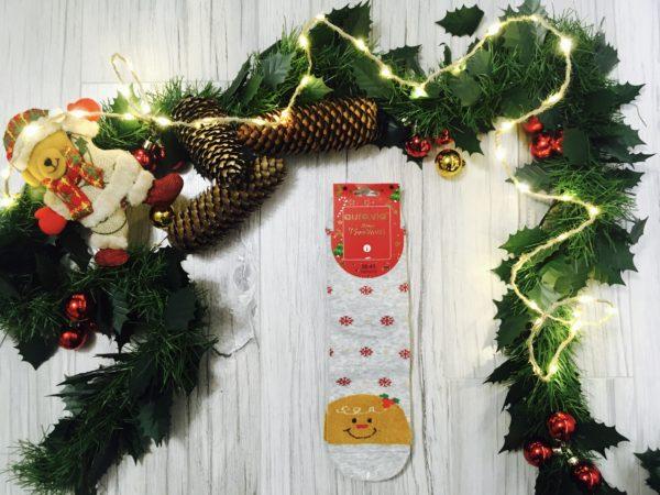 Świąteczne skarpetki damskie w Pierniki