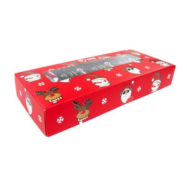 Świąteczne skarpetki męskie w ozdobnym pudełku