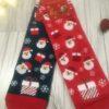 Świąteczne skarpety damskie ze Świętymi Mikołajami