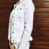Biała kurtka jeansowa damska