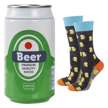 Skarpetki męskie w piwo w puszce